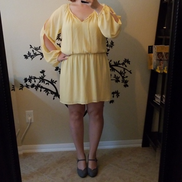 White House Black Market Dresses Whbm Yellow Dress Long Sleeves